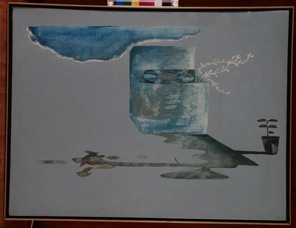 Barwe's later works like The Gramophone, 1991, are minimalist, but mirror very strongly the identity of the artist.