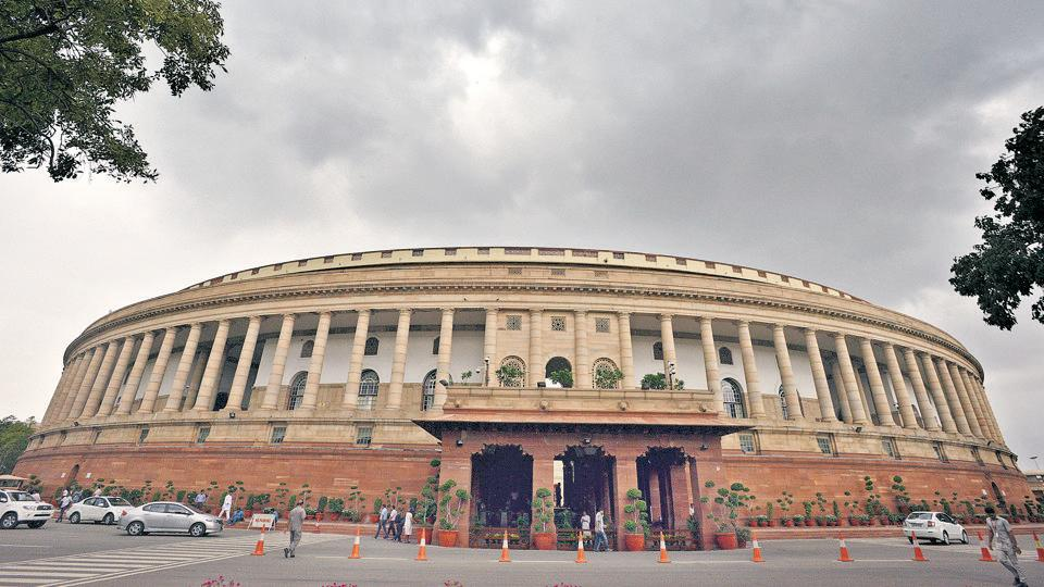 The Parliament House, in New Delhi.