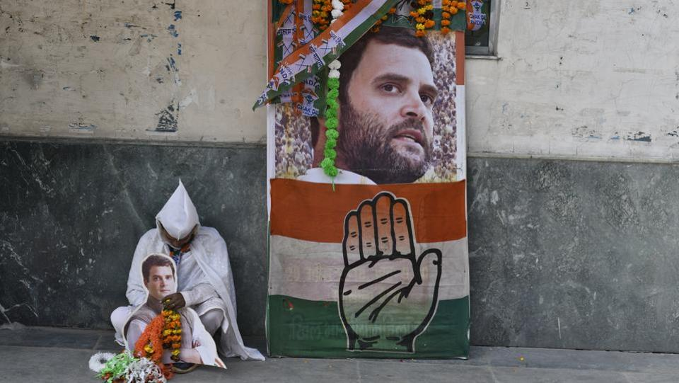"Congress has asked its youth wing to focus on 230 Lok Sabha seats - those it lost by a ""thin margin"" in 2014, and where a large number of new voters have been enrolled ahead of the elections. Youth Congress president Keshav Chand Yadav said that to fulfil this task, one coordinator will be appointed for each seat and several teams will be set up at different levels from booth to constituency levels. (Burhaan Kinu / HT File)"