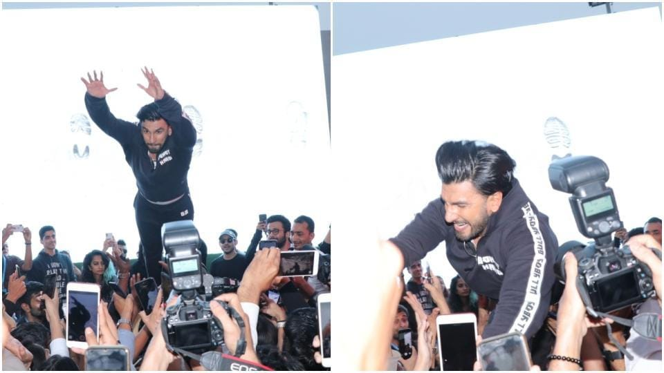 Ranveer Singh has been into crowdsurfing lately.
