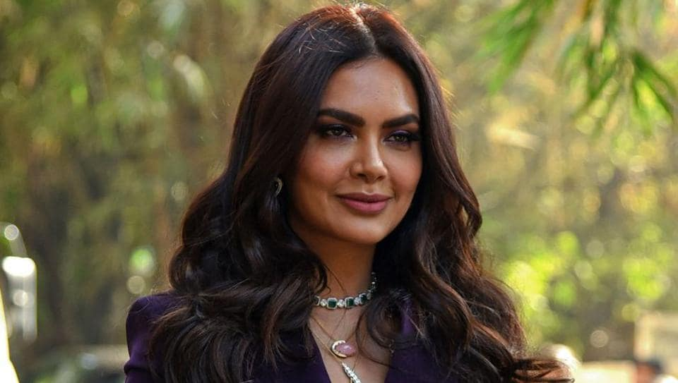 Esha Gupta poses for photographs during the launch of her new music video Get Dirty in Mumbai on January 11, 2019.