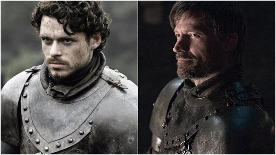 Jaime Lannister's armour looks so much similar to Robb Stark's.