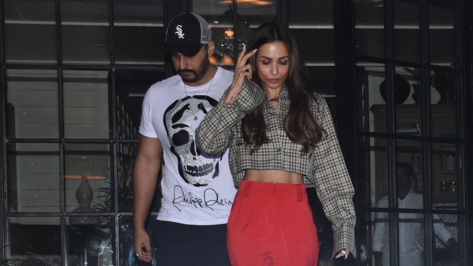 Arjun Kapoor and Malaika Arora spotted in Mumbai.