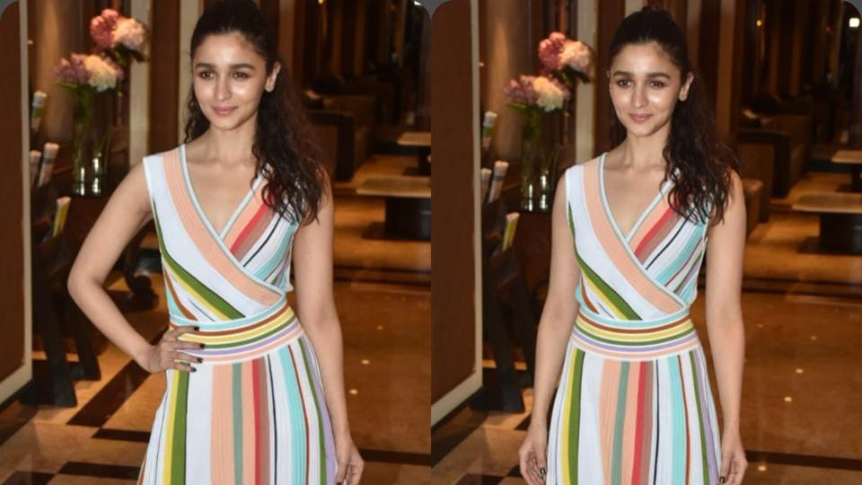 Alia Bhatt's colourful striped ankle-length dress by Missoni is perfect for a summer outing