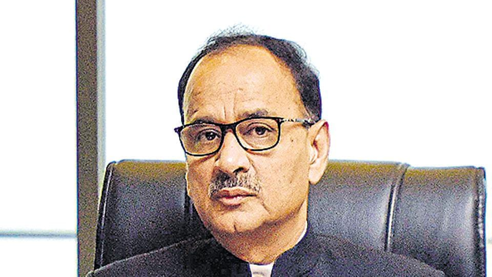 Alok Verma, former Director of Central Bureau of Investigation (CBI), has been sent a so-called show-cause notice to explain why he did not take over as Director General of Fire Services as he was ordered to on  January 10.(Photo by Ravi Choudhary / HT Archive)
