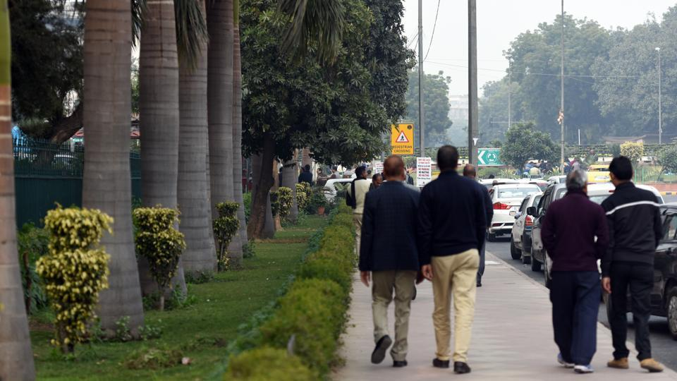 Experts say greenery should be maintained round the year to make footpaths walkable.