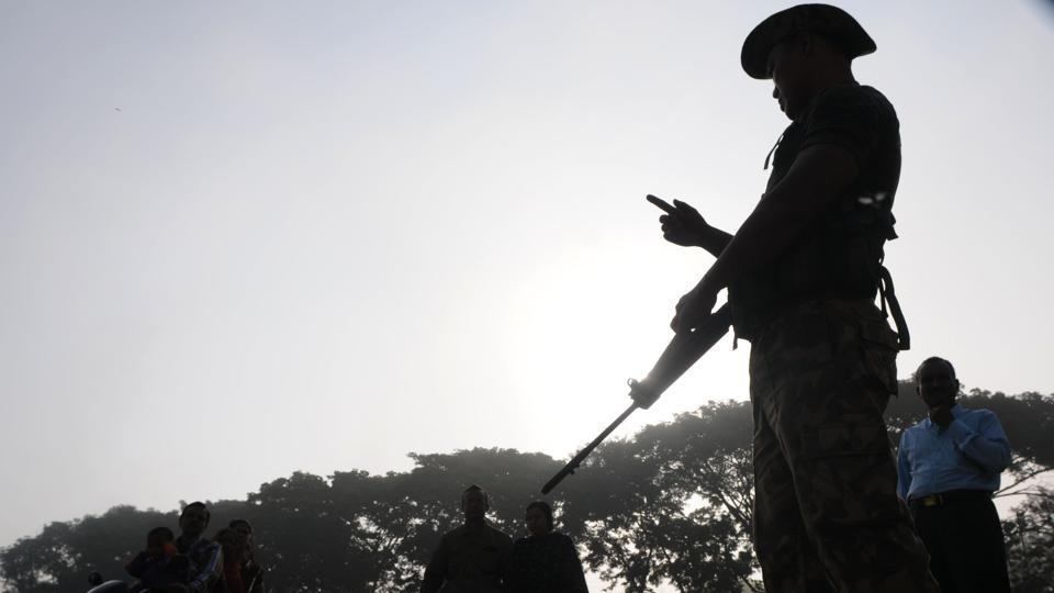 At least ten Maoists were killed on Thursday in an ongoing gun battle with security forces deep in a jungle in Chhattisgarh's Bijapur district. The encounter started at around 11am when a team of security forces reached the spot in the jungle where Maoists were being trained, officials said. (Parwaz Khan / HT Archive / Representative image)