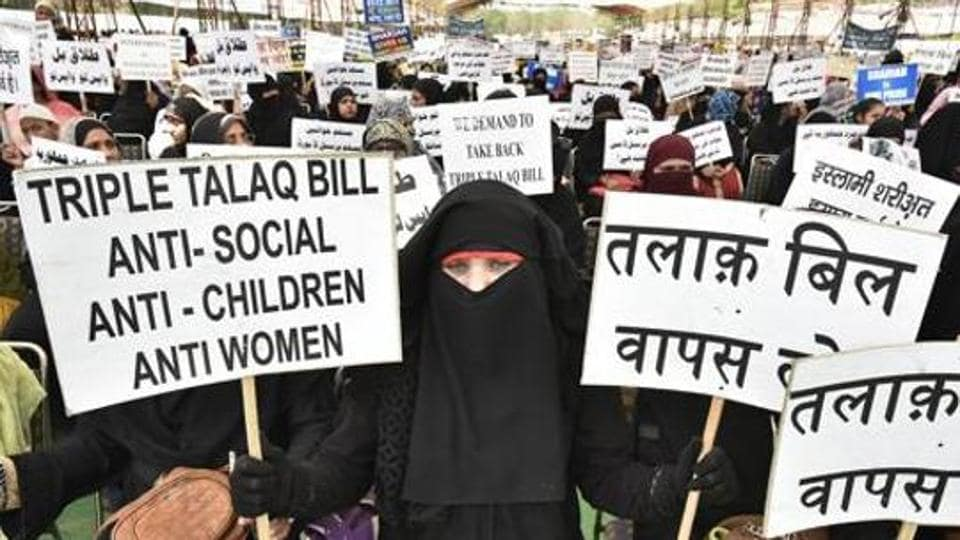 The triple talaq bill was passed in the Lok Sabha and is pending in the Rajya Sabha.