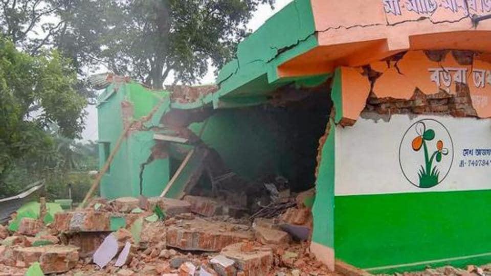 bengal trinamool leader,blast,house