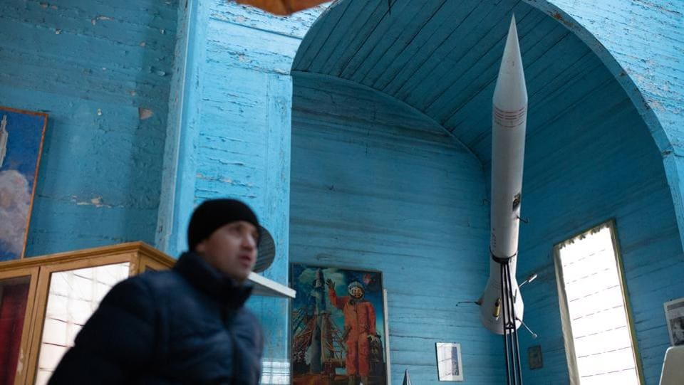 Soviet anti-religious propaganda used images of space exploration to persuade people that God did not exist. The Soviets also put some former churches to ideological use such as opening a museum of atheism in a cathedral in Leningrad, now Saint Petersburg. Some other churches were converted into planetariums. (Aleksey Filippov / AFP)
