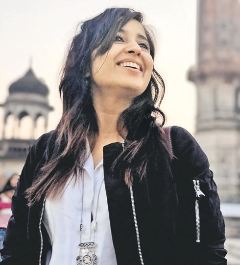 Actor Shweta Tripathi in Lucknow.