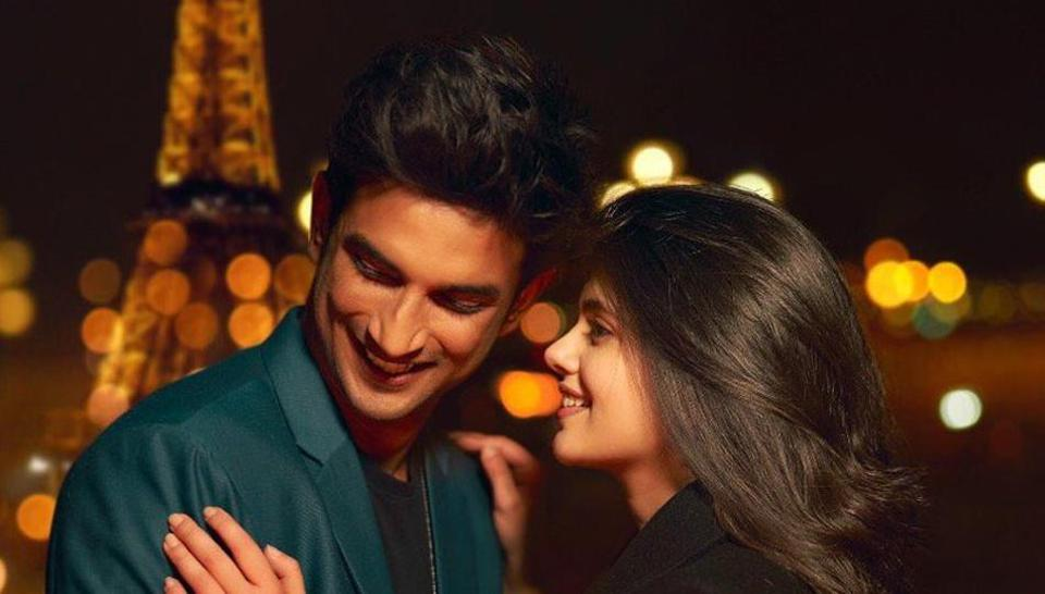 Sushant Singh Rajput and Sanjana Sanghi in Dil Bechara.