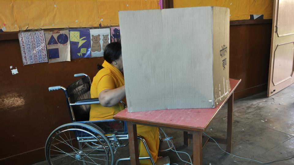 LS polls,lok sabha elections,car pooling for differently abled voters