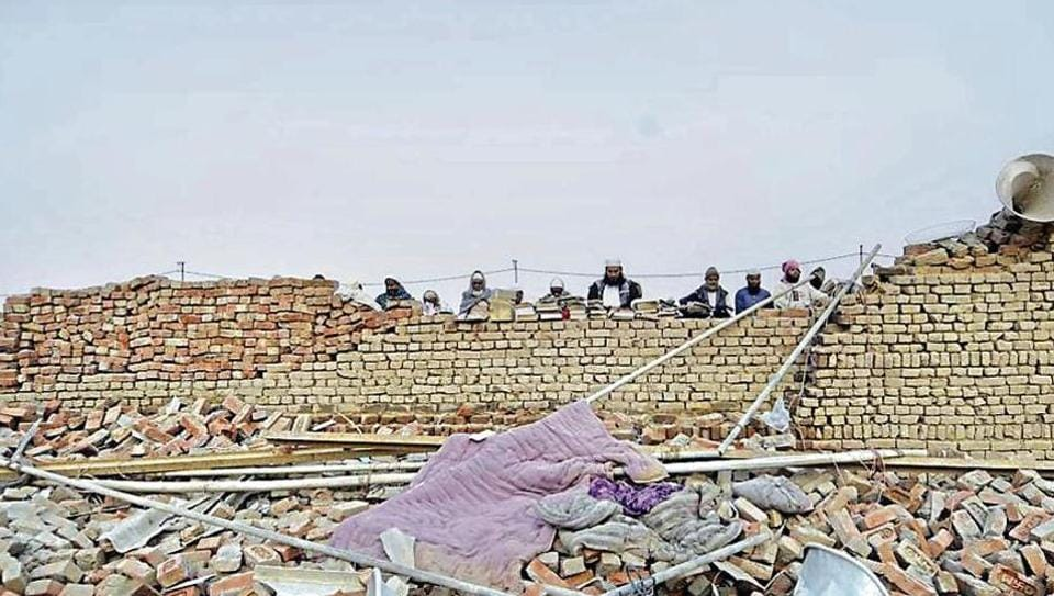 The tempestuous storm, eyewitnesses said, destroyed pucca houses within seconds,