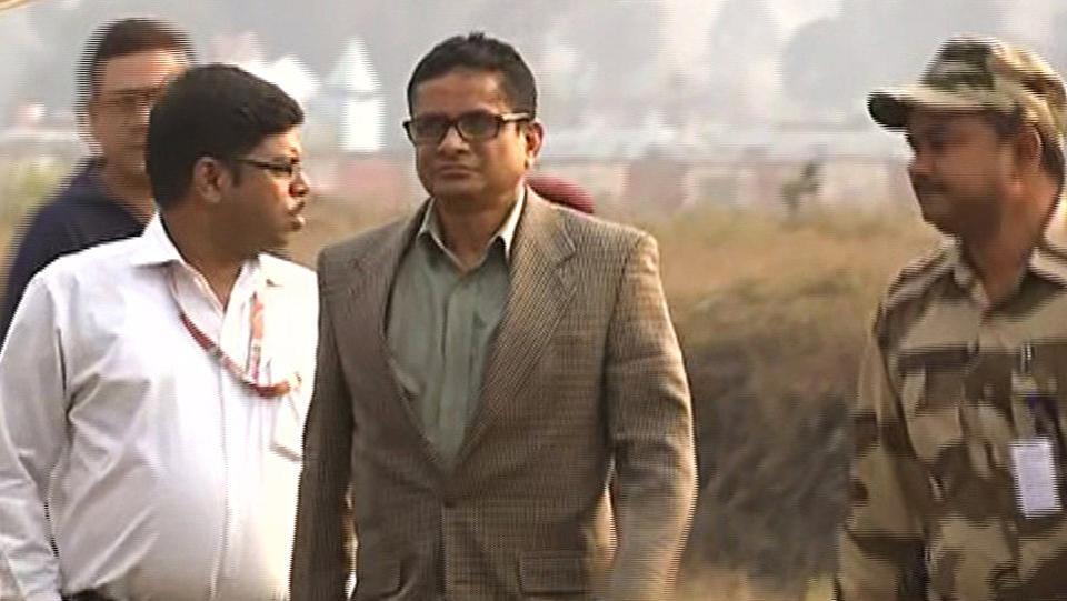 Kolkata Police Commissioner Rajeev Kumar in Shillong.