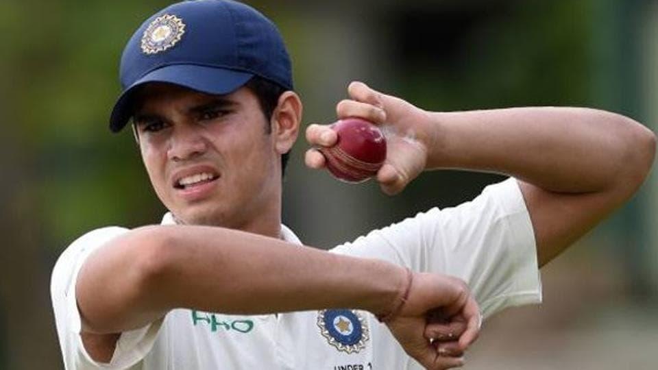 Arjun Tendulkar,Arjun Tendulkar cricket,Arjun Tendulkar Sachin Tendulkar