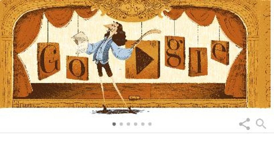 Google Doodle,French actor and playwright,Moliere
