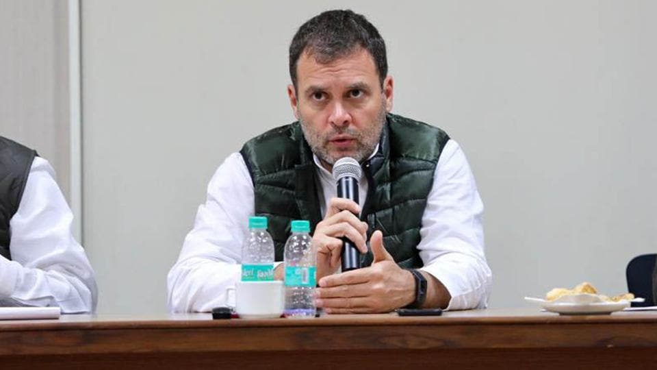 """Congress president Rahul Gandhi on Sunday attacked the Centre over the issue of job creation, alleging that incompetence coupled with arrogance has made the government a """"textbook case of moral bankruptcy""""."""
