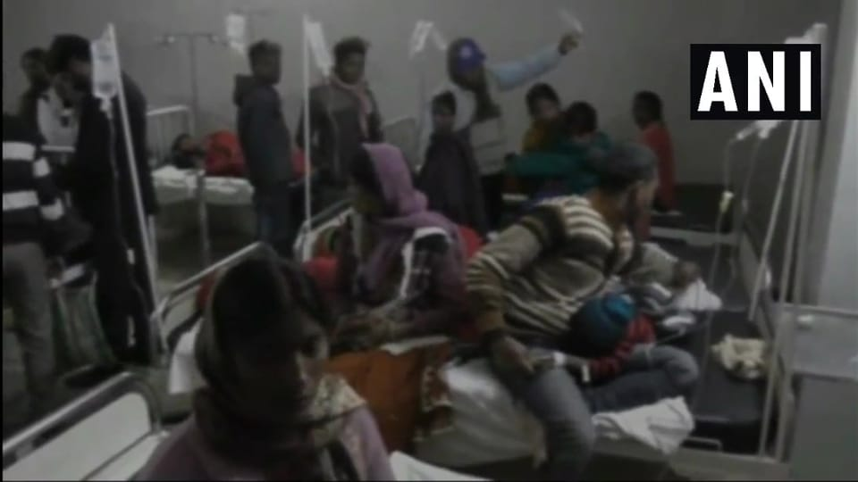 The children started vomiting after taking 'bundi' and have been admitted to the Sadar hospital.