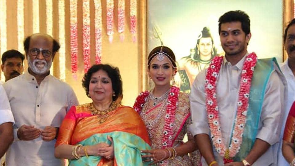 Soundarya Rajinikanth and Vishagna Vanangamudi got married on Monday inChennai.