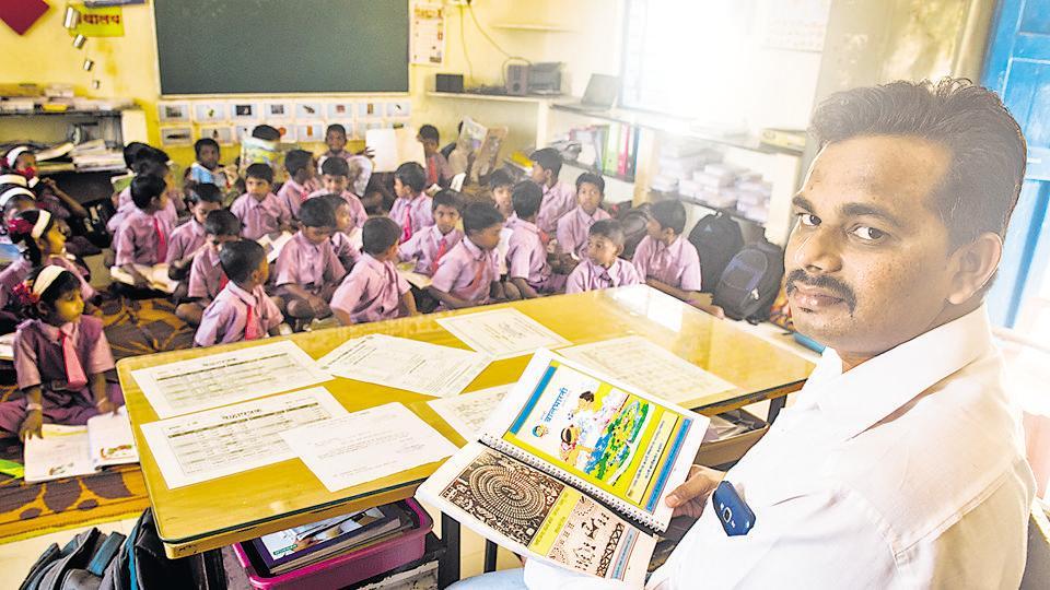 Rajan Garud, a teacher at Khorichapada zilla parishad school in Palghar, translated textbooks into Warli, a language spoken in Palghar, south Gujarat and parts of Nashik, to help students transition to Marathi with ease.