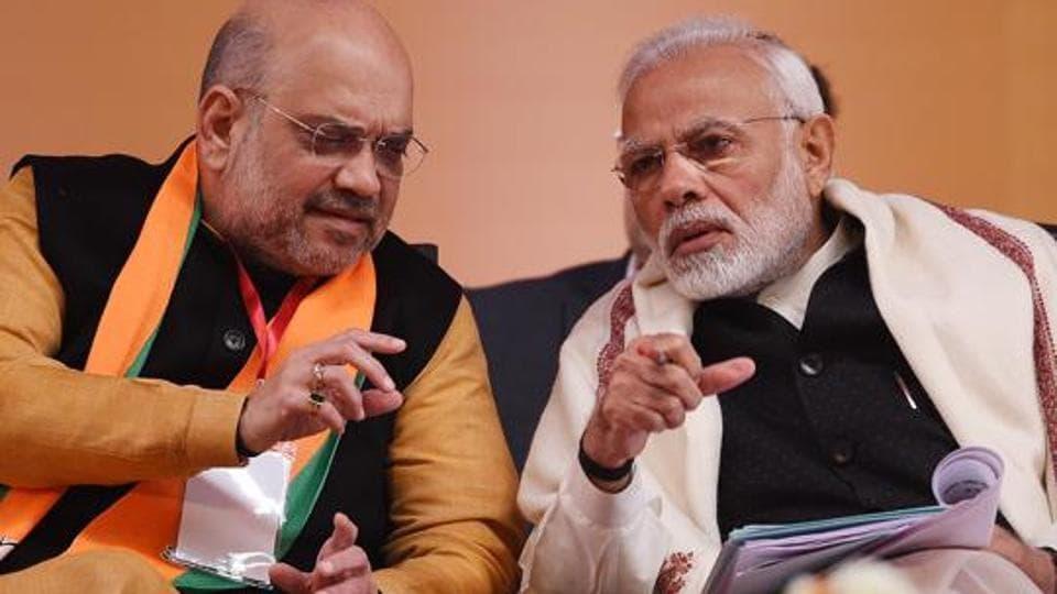 Prime Minister Narendra Modi and BJP National President Amit Shah in New Delhi, January 12, 2019