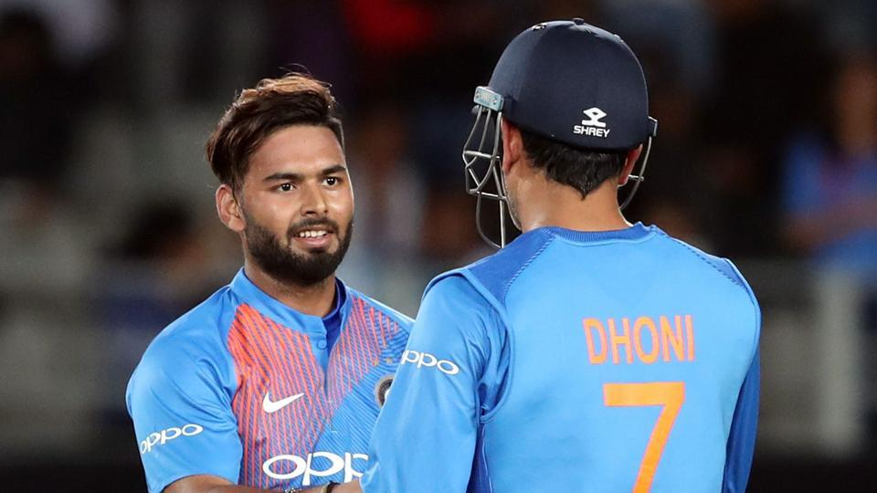 Rishabh Pant and MS Dhoni during the recently concluded T20 series against New Zealand.