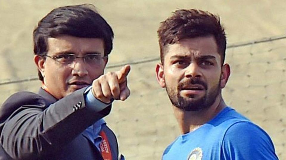 File image of Sourav Ganguly and Virat Kohli.