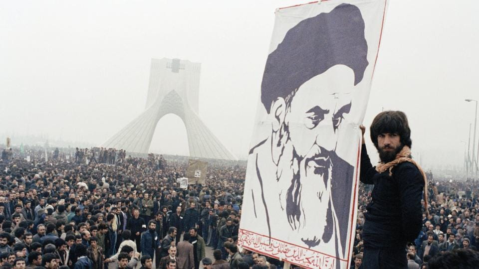 Protesters demonstrate against the Shah in Tehran a month after martial law was imposed on September 08, 1978 in Tehran and 11 cities after 100,00 anti-shah demonstrators marched in the capital and were shot at by troops in the Jaleh Square. 121 were killed and 200 wounded. (AP File)