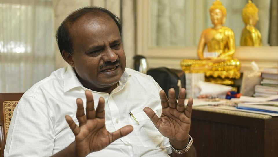 Karnataka chief minister HD Kumaraswamy has set up a special investigation team to probe the two audio clips he released last week claiming that BJP leader BS Yeddyurappa was trying to poach a legislator from his party. He also accused PM Modi and BJP chief Amit Shah of being directly involved in the alleged attempts to destabilise the eight-month-old coalition government. (Shailendra Bhojak / PTI File)