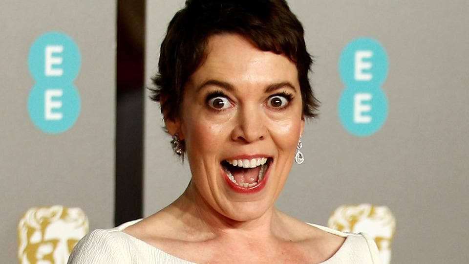 Olivia Colman arrives at the British Academy of Film and Television Awards (BAFTA) at the Royal Albert Hall in London.
