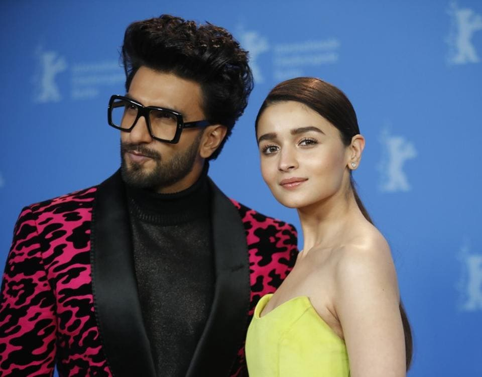 Actors Alia Bhatt and Ranveer Singh pose during a photocall to promote the movie Gully Boy at the 69th Berlinale International Film Festival in Berlin.