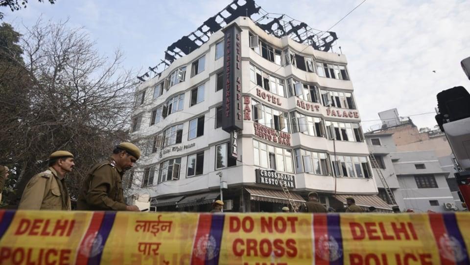 Delhi hotel fire,karol bagh,Hotel Arpit Palace