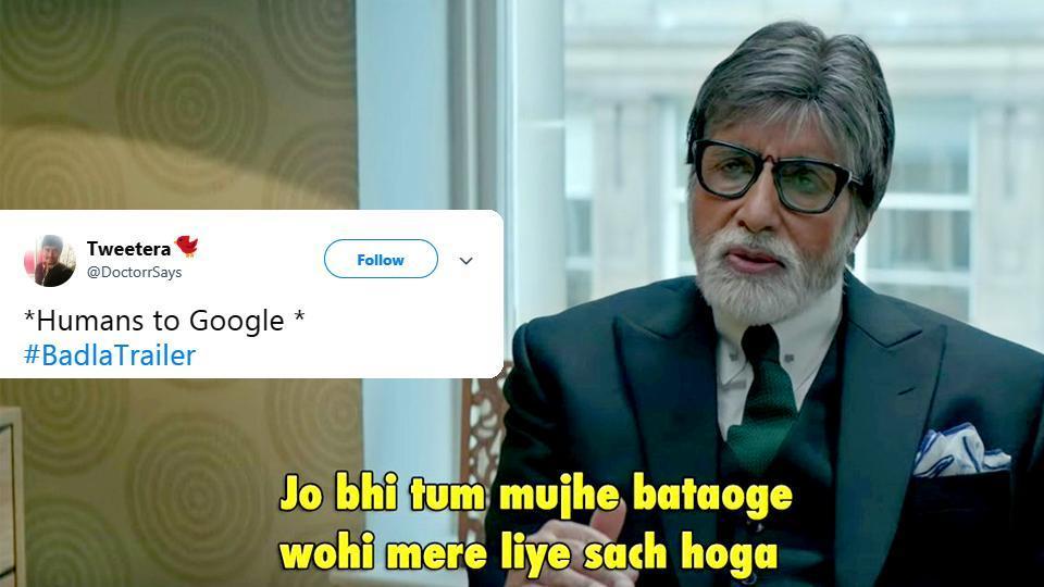 Badla trailer,badla,Amitabh Bachchan