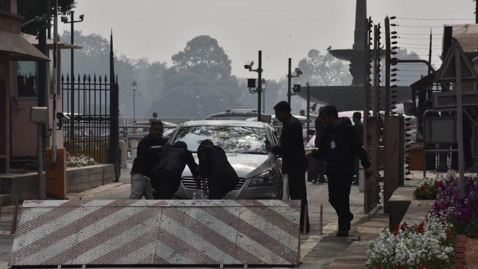 High alert in Delhi,Manipur MP's car,Delhi high alert