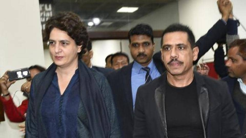 Priyanka Gandhi had also accompanied Robert Vadra to Delhi office of the ED last week when he was questioned for hours over three days in connection with another property case.