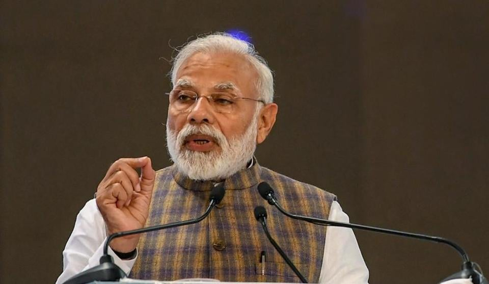 Greater Noida: Prime Minister Narendra Modi addresses during the inauguration of 13th International Oil and Gas Conference - PETROTECH 2019 at India Expo Centre, at Greater Noida, Monday, Feb.11, 2019. (PIB Photo via PTI)(PTI2_11_2019_000071B)
