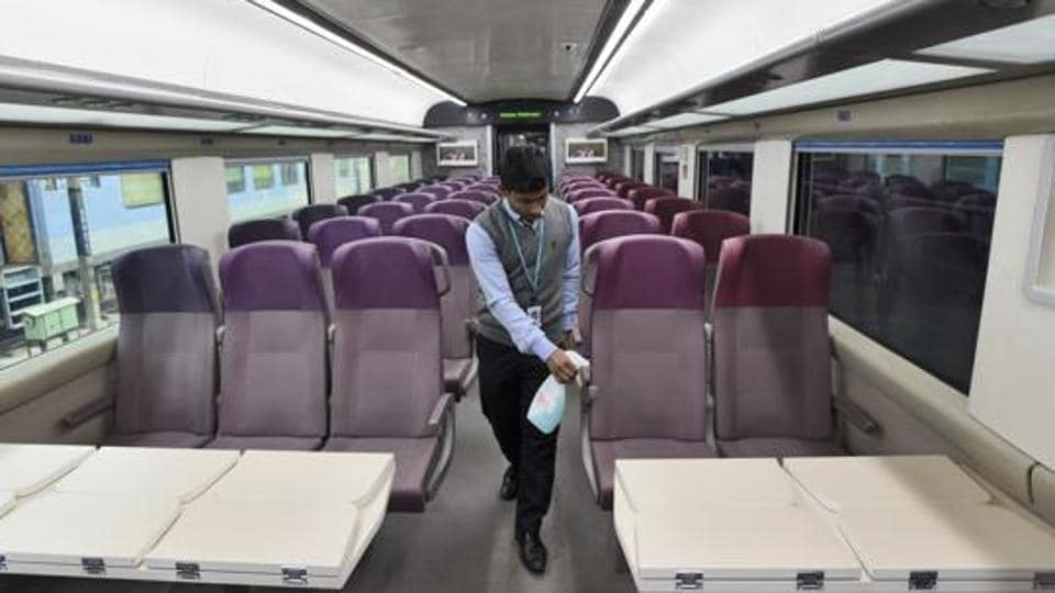 Image result for vande bharat express interior