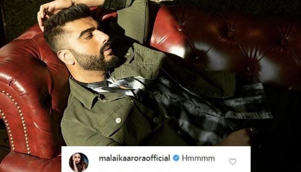 Malaika Arora comments on Arjun Kapoor's latest Instagram picture.