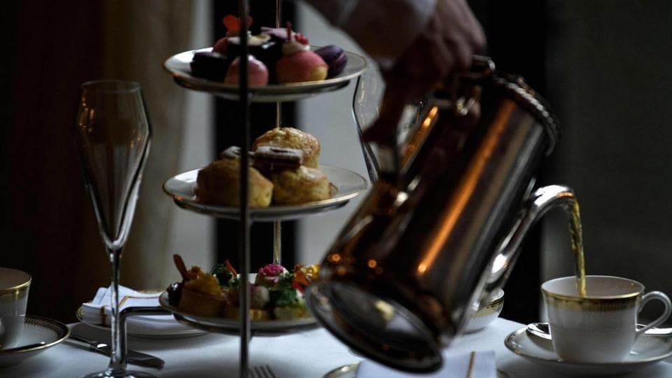 Galentine's Day tea is served at the St. Regis hotel on February 12, 2019 in Washington, DC.