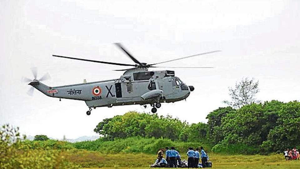 "The navy said the outdated Chetaks have to be replaced by new choppers ""as early as possible""."