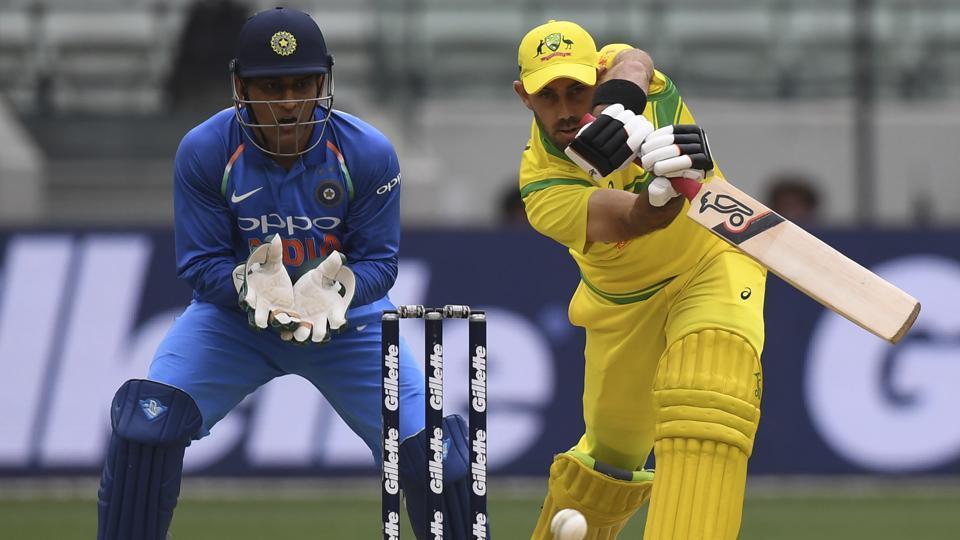 Australia's Glenn Maxwell during their ODI match against India in Melbourne.