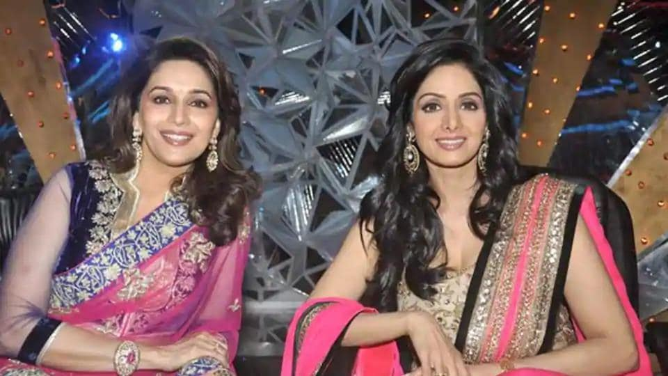 Madhuri Dixit and Sridevi were contemporaries and ruled Bollywood in the 90s.