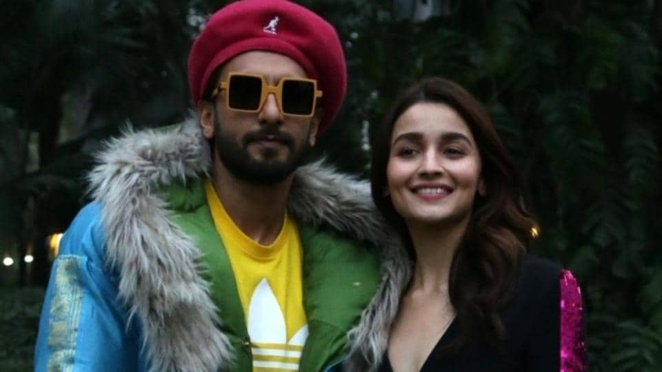 Actors Ranveer Singh and Alia Bhatt during a photo shoot ahead of release of their upcoming film Gully Boy in New Delhi.
