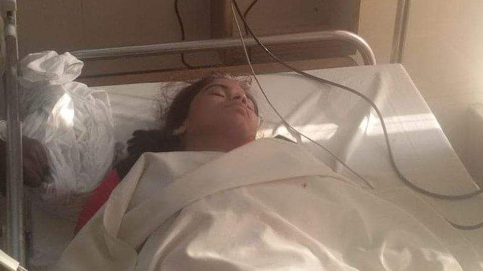 Richa Singh, who describes herself as the first elected women president Allahabad university's students' union on Twitter, tweeted her photographs from a hospital bed.