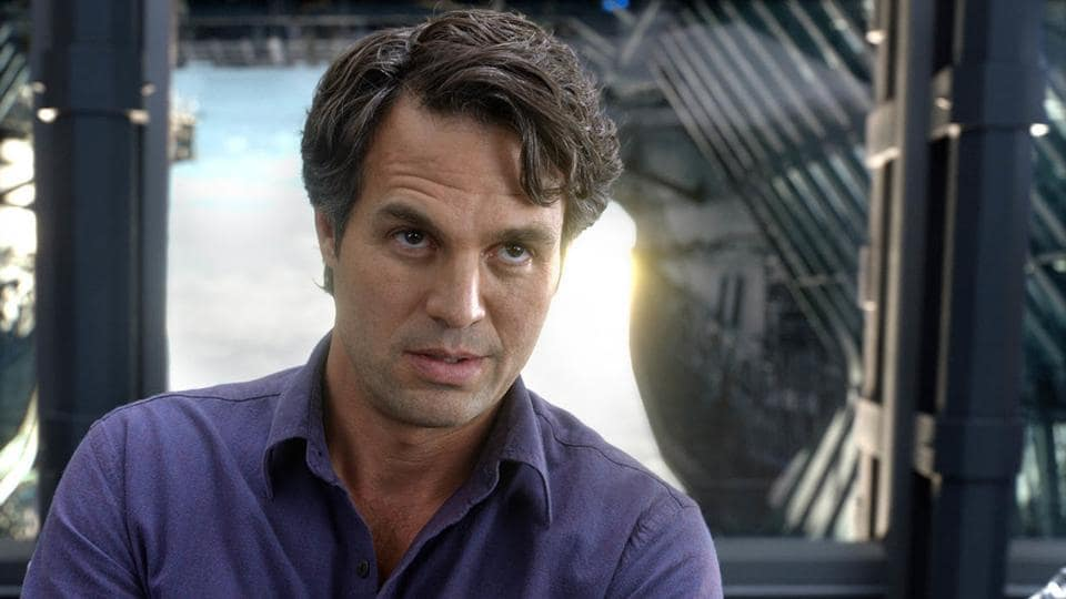 Mark Ruffalo as Bruce Banner in a still from Avengers.