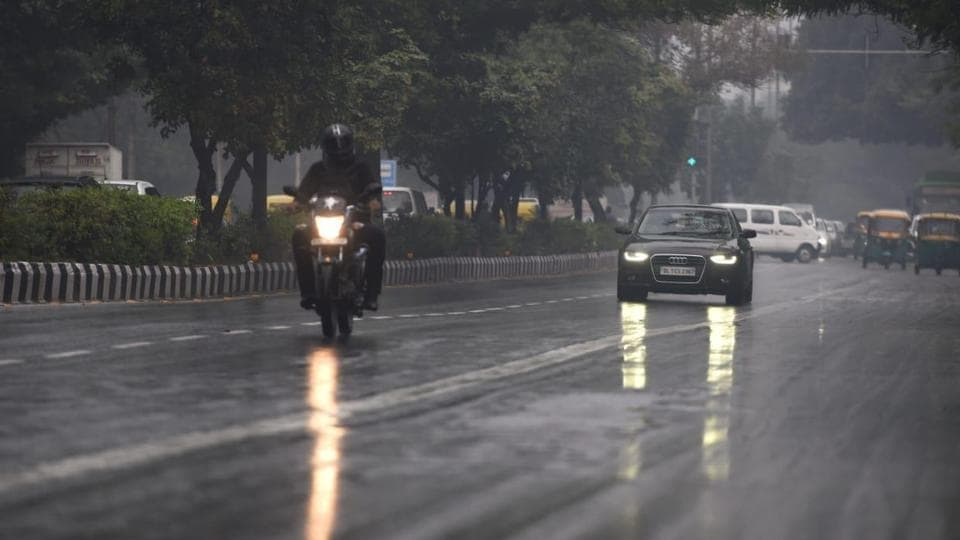 Rains lashed the capital in the morning on February 14.