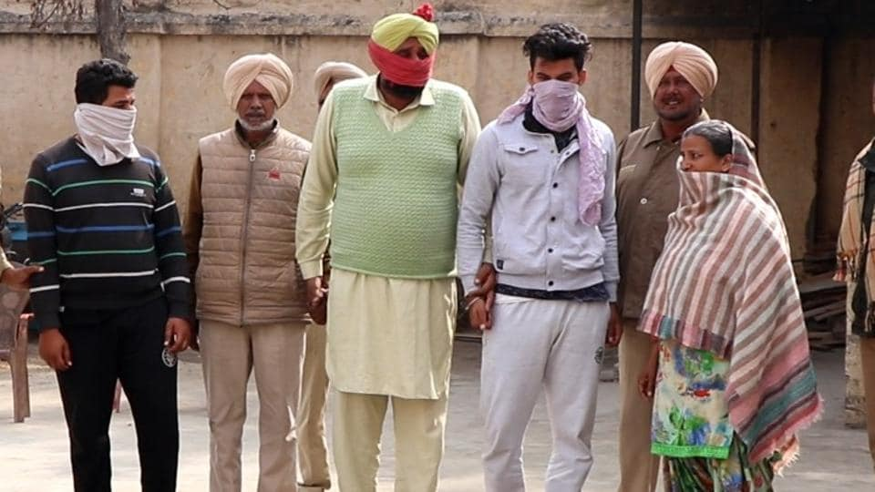 Police arrested the dead woman's husband, brother-in-law , father-in-law, and mother-in-law for her murder.
