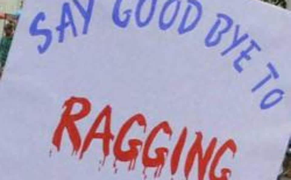 Students participating in an anti-ragging rally at Mehdipatnam in Hyderabad.