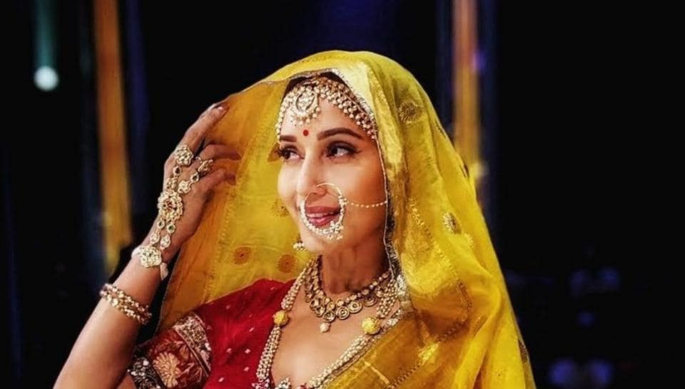 Madhuri Dixit shared a picture dressed as Madhubala on the latter's 86th birth anniversary.